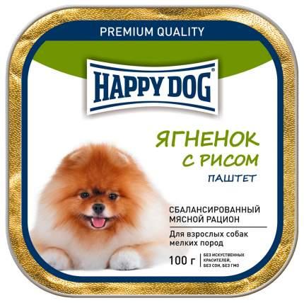 Консервы для собак Happy Dog, для мелких пород, паштет, ягненок с рисом, 15шт по 100г
