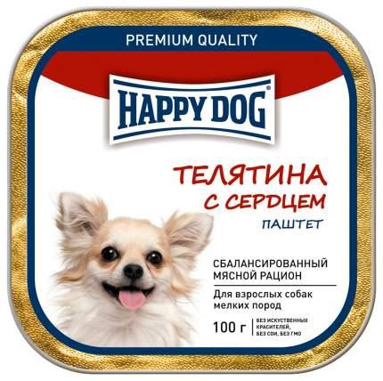 Консервы для собак Happy Dog, для мелких пород, паштет, телятина с сердцем, 15шт по 100г