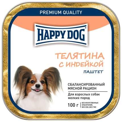 Консервы для собак Happy Dog, для мелких пород, паштет, телятина с индейкой, 15шт по 100г