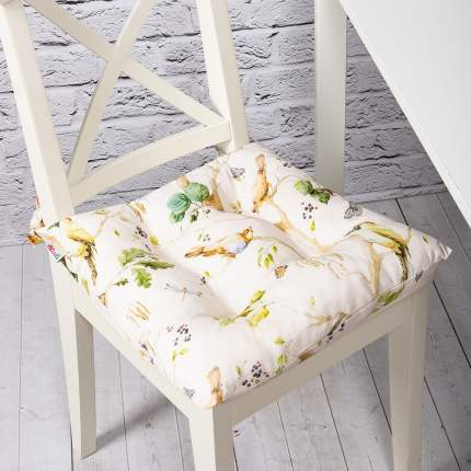 Декоративная подушка на стул с завязками Лесная прогулка, Altali, 41x41см, 705-2147/2