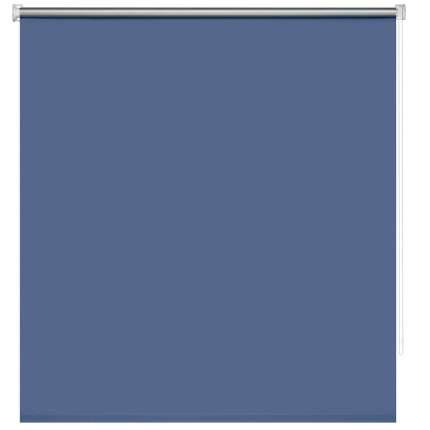 Рулонная штора Decofest Блэкаут Плайн Полуночный синий 80x160