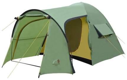 Палатка кемпинговая Indiana Peak четырехместная зеленая