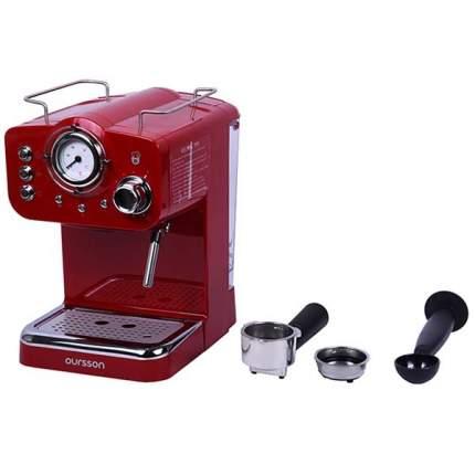 Кофеварка рожкового типа Oursson EM1500/RD