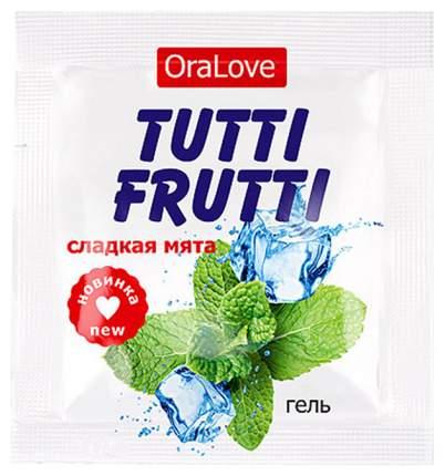 Съедобная гель-смазка TUTTI-FRUTTI для орального секса со вкусом сладкой мяты 4г по 20 шт.