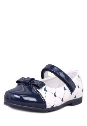 Туфли для девочек Honey Girl, цв. белый, темно-синий, р-р 29