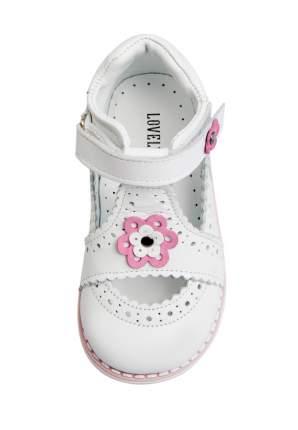 Туфли детские Lovely Puppy, цв. белый р.21