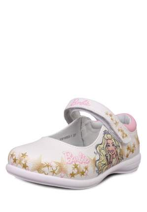 Туфли для девочек Barbie, цв. белый, р-р 26