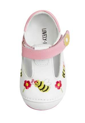 Туфли для девочек Lovely Puppy, цв. белый, розовый, р-р 20