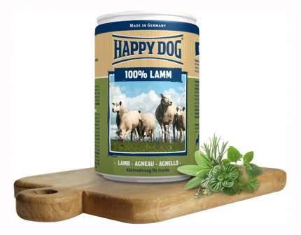 Консервы для собак Happy Dog 100% Lamm, ягненок, 6шт по 400г