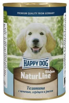 Консервы для щенков Happy Dog NaturLine, телятина, сердце, печень, рис, 20шт по 400г