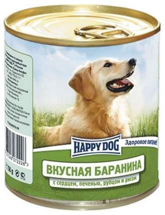 Консервы для собак Happy Dog, баранина, сердце, печень, рубец, 12шт по 750г