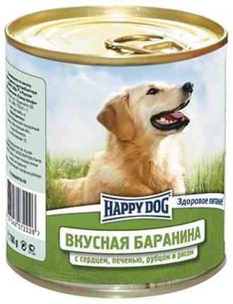 Консервы для собак Happy Dog, баранина, сердце, печень, рубец, рис, 12шт по 750г