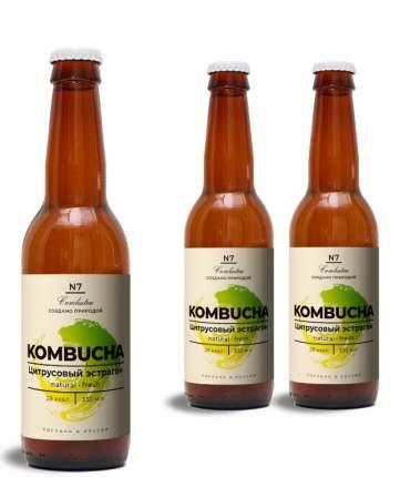 Напиток Комбуча COMBUTEA цитрусовый эстрагон 3*0,33