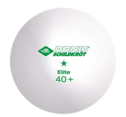 Мячи для настольного тенниса Donic Elite 1*, белый, 6 шт.