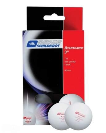 Мячи для настольного тенниса Donic Avantgarde 3*, белый, 6 шт.