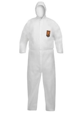 Одноразовый защитный комбинезон A40 с капюшоном, р-р XXL, белый, 65 г/кв.м., KLEENGUARD