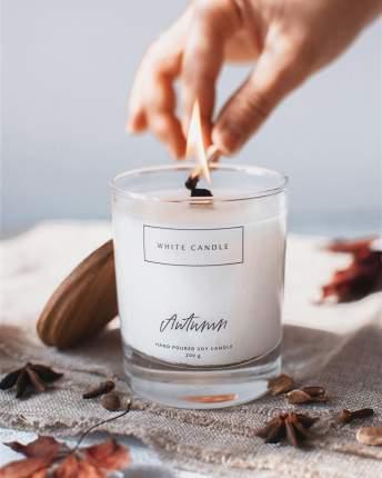 Свеча ароматическая Autumn Gluhwein с деревянным фитилем, WHITE CANDLE
