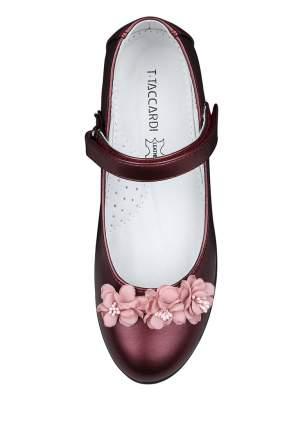 Туфли для девочек T.TACCARDI, цв. бордовый, р-р 33