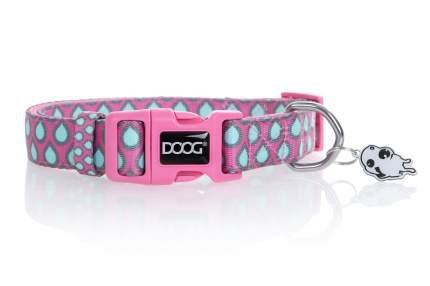 Ошейник для собак Doog Luna, розовый с каплями, S, 23-34см