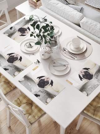 Комплект салфеток для сервировки стола «Собака с газетой» (32х46 см, 4 шт.)