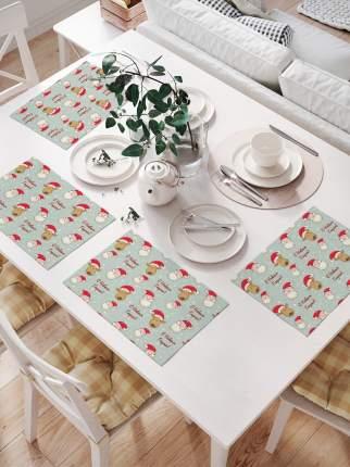 Комплект салфеток для сервировки стола «Большое поздравление» (32х46 см, 4 шт.)