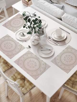 Комплект салфеток для сервировки стола «Тарелка фантазий» (32х46 см, 4 шт.)