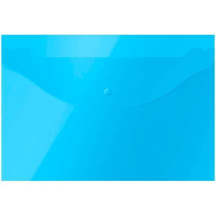 """Папка-конверт на кнопке """"OfficeSpace"""", А4, 120 мкм, синяя"""