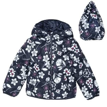 Куртка Chicco для девочки с капюшоном р.116 цвет темно-синий