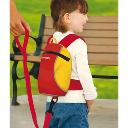 Поводок-вожжи с рюкзачком для начинающих ходить Lindam