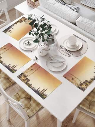 Комплект салфеток для сервировки стола «Колесо обозрения в лондоне» (32х46 см, 4 шт.)