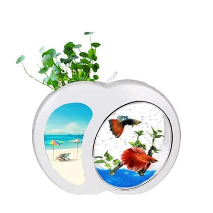 Мини-аквариум для рыб Sensen YB-01W, белый, 3 л