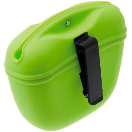 Сумочка для лакомств силиконовая с магнитным замком ZDK Petsy (зеленый)