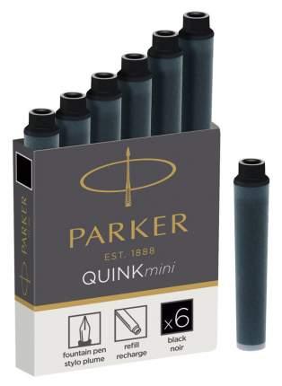 """Картриджи-мини с чернилами """"Quink"""" для перьевой ручки черные"""