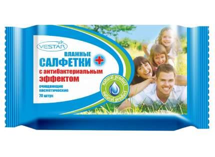 Влажные салфетки Вестар с антибактериальным эффектом 70 шт