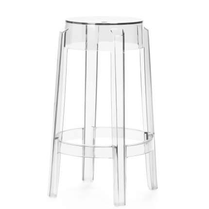 Полубарный стул Crystal Round прозрачный StoreForHome 118-APC1