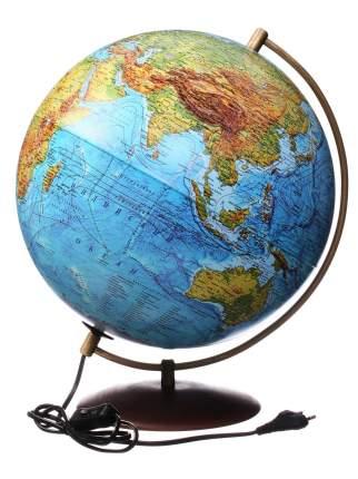 Глобус Globen на подставке из натурального дерева, физико-политический с подсветкой