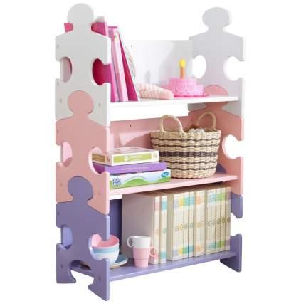 Система хранения KidKraft Пазл пастель Puzzle Bookshelf