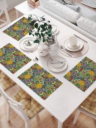 Комплект салфеток для сервировки стола «Цветочный луг» (32х46 см, 4 шт.)