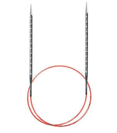 Спицы круговые, супергладкие, с квадратным кончиком addiNovel №5, 100 см.