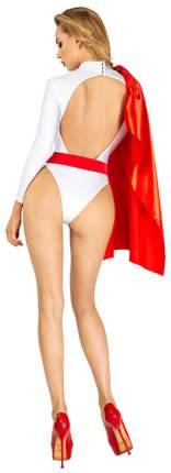 Костюм девушки-супергероя белый с красным M Devil & Angel