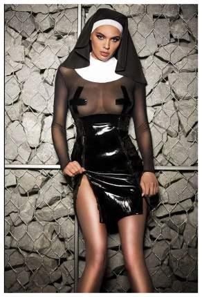 Костюм соблазнительной монашки черный с белым XS-S Devil & Angel