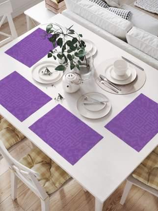 Комплект салфеток для сервировки стола «Круглый лабиринт» (32х46 см, 4 шт.)