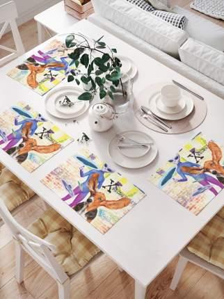 Салфетки для сервировки стола «Инопланетянин и космический бассет» (32х46 см, 4 шт.)