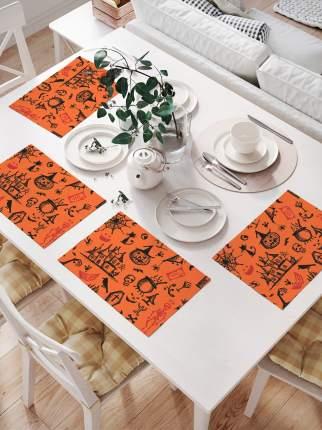 Комплект салфеток для сервировки стола «Ужасы Хэллоуина» (32х46 см, 4 шт.)