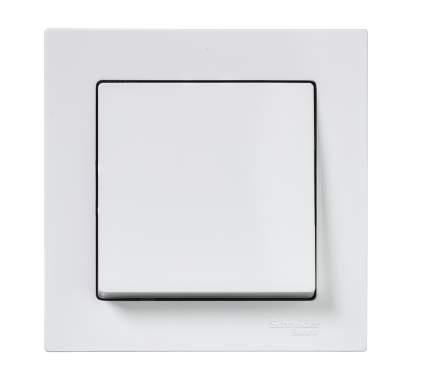 SE AtlasDesign Белый Выключатель 1-клавишный сх.1, 10АХ, в сборе