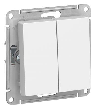 SE AtlasDesign Белый Выключатель 2-клавишный сх.5, 10АХ, механизм