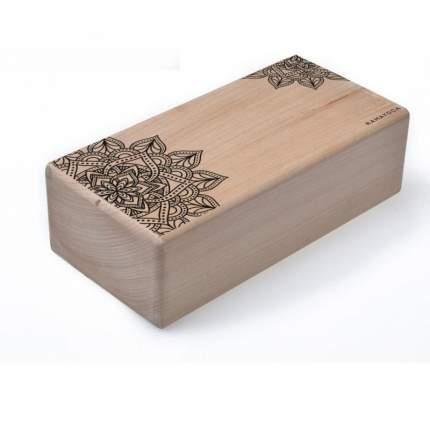 Кирпич для йоги с дизайном Цветок Жизни (1 кг, 8 см, 23 см, бежевый, 11 см)