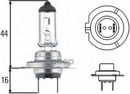 Лампа H7 12v 55w Px 26d Yellow Light HELLA 8GH 007 157-481