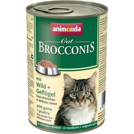Консервы для кошек Animonda Brocconis, с дичью и домашней птицей, 400г