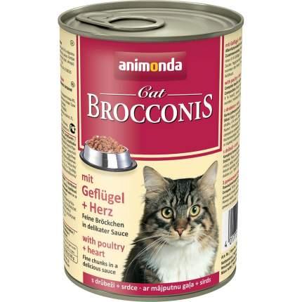 Консервы для кошек Animonda Brocconis, с домашней птицей и сердцем, 400г